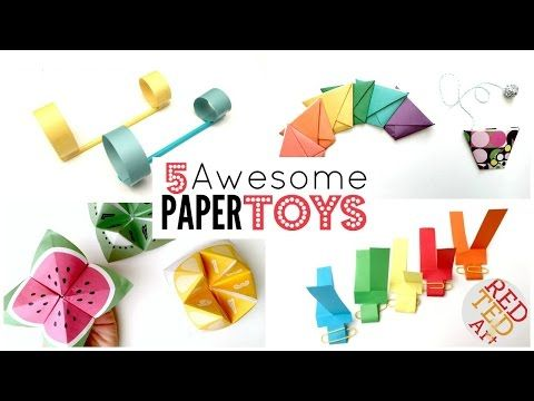 5 Paper Toy Diys 5 Minute Crafts Things To Do When Bored