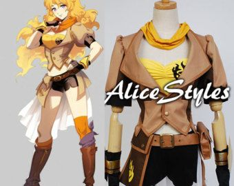 RWBY Yellow Trailer Yang Xiao Long Cosplay Costume Full Suits Jacket Pants New