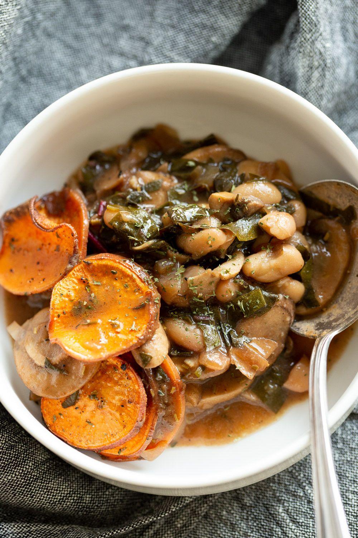 Vegan Mushroom Pot Pie With Sweet Potato Crust Vegan Richa Recipe Stuffed Mushrooms Vegan Dinner Recipes Recipes