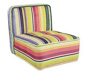 Sofá modular soft stripes - Estampa colorida linda