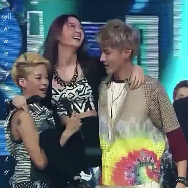 #Kris #Amber #Krystal on the stage after #fx winning first ...