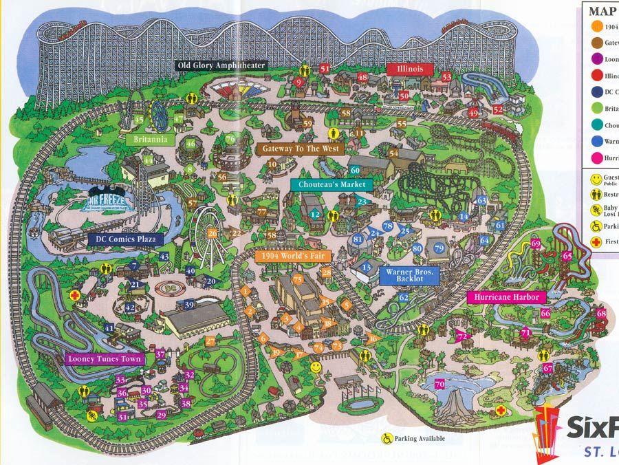 Six Flags Mid America Eureka Mo Six Flags Theme Park Roller Coaster