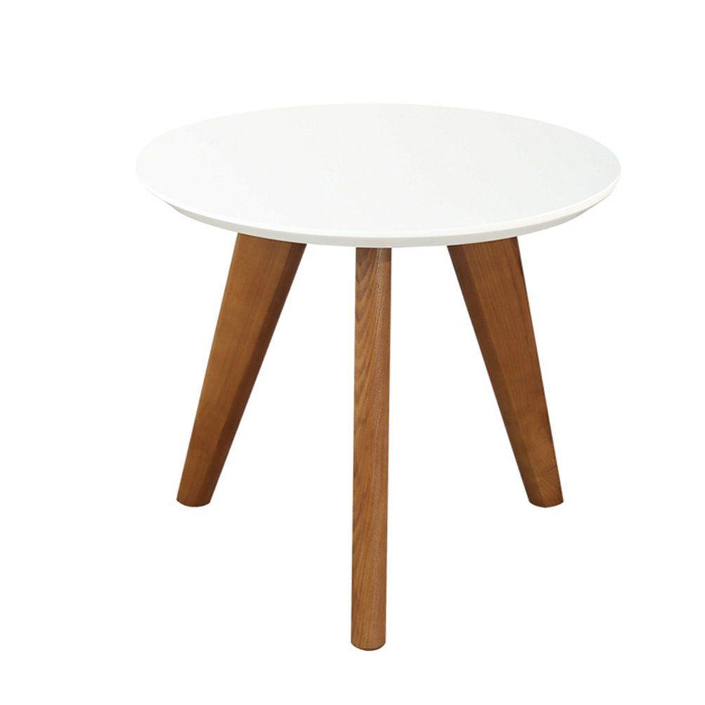 Csq Solid Wood Sofa Table Household Small Round Table Corner A Few Circular Side Table Living Ro Living Room Side Table Wood Sofa Table Round Living Room Table [ 1005 x 1005 Pixel ]