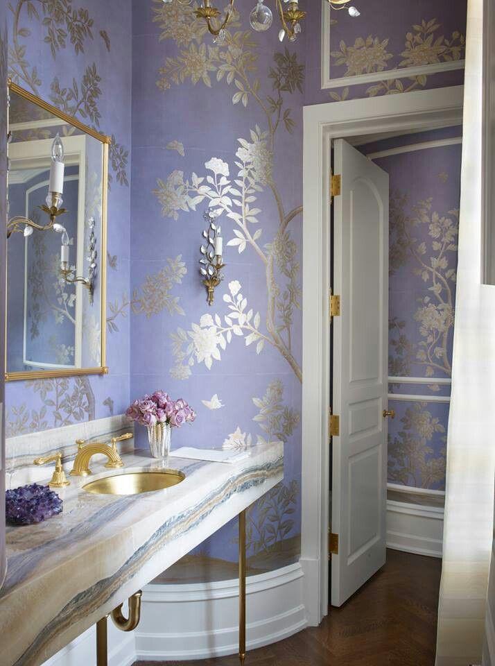 Lovely Powder Room Via Veranda Magazine Beautiful Bathrooms