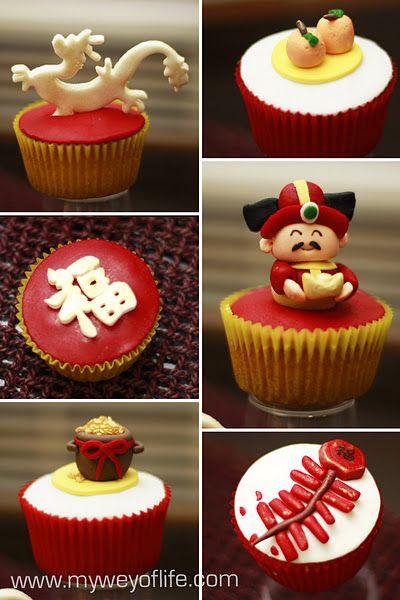 chinese new year cupcakes