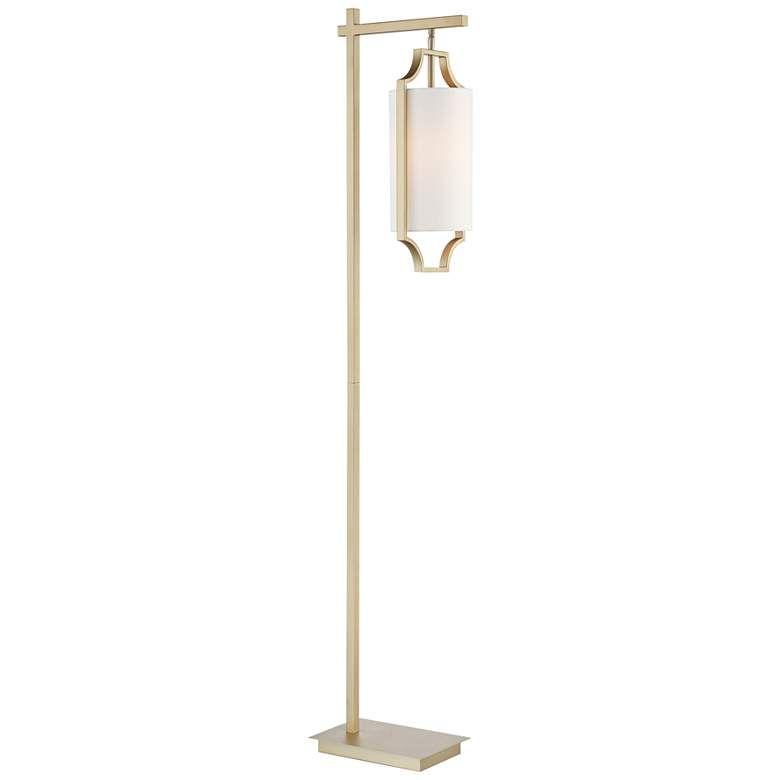 Lite Source Lenore Light Gold Hanging Lantern Floor Lamp 69m35 Lamps Plus Lantern Floor Lamp Floor Lamp Lamp