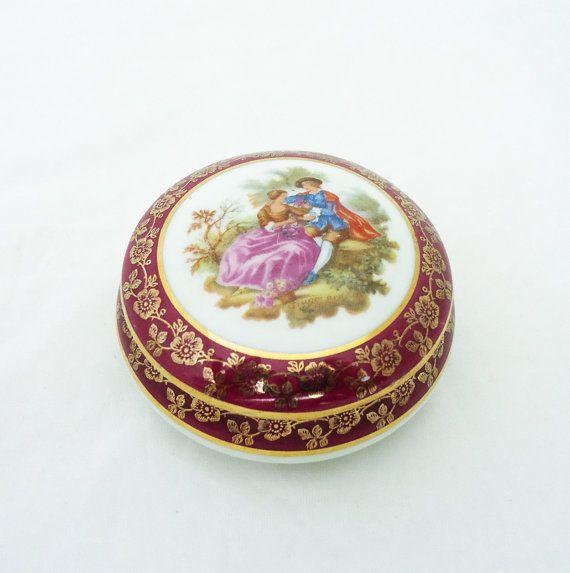 Vintage Limoges French Porcelain Trinket Box La Reine Porcelaine B10 Vintage Trinket Box French Vintage Uk Seller Trinket Boxes Porcelain French Vintage