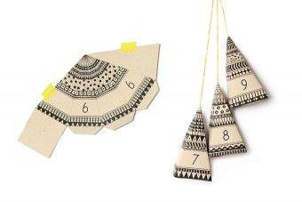 Adventspyramiden aus Kraftpapier