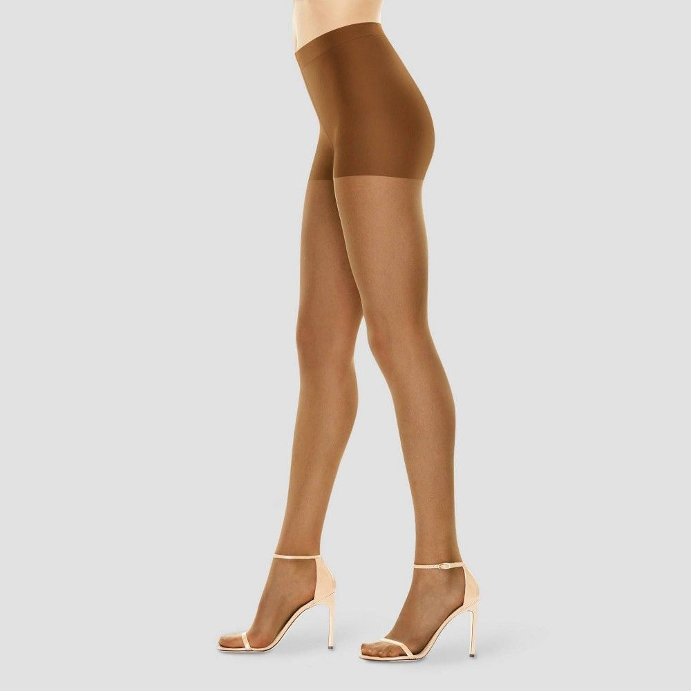 Just My Size Women/'s Run Resistant Control Top Panty Hose Nude 3X//4X