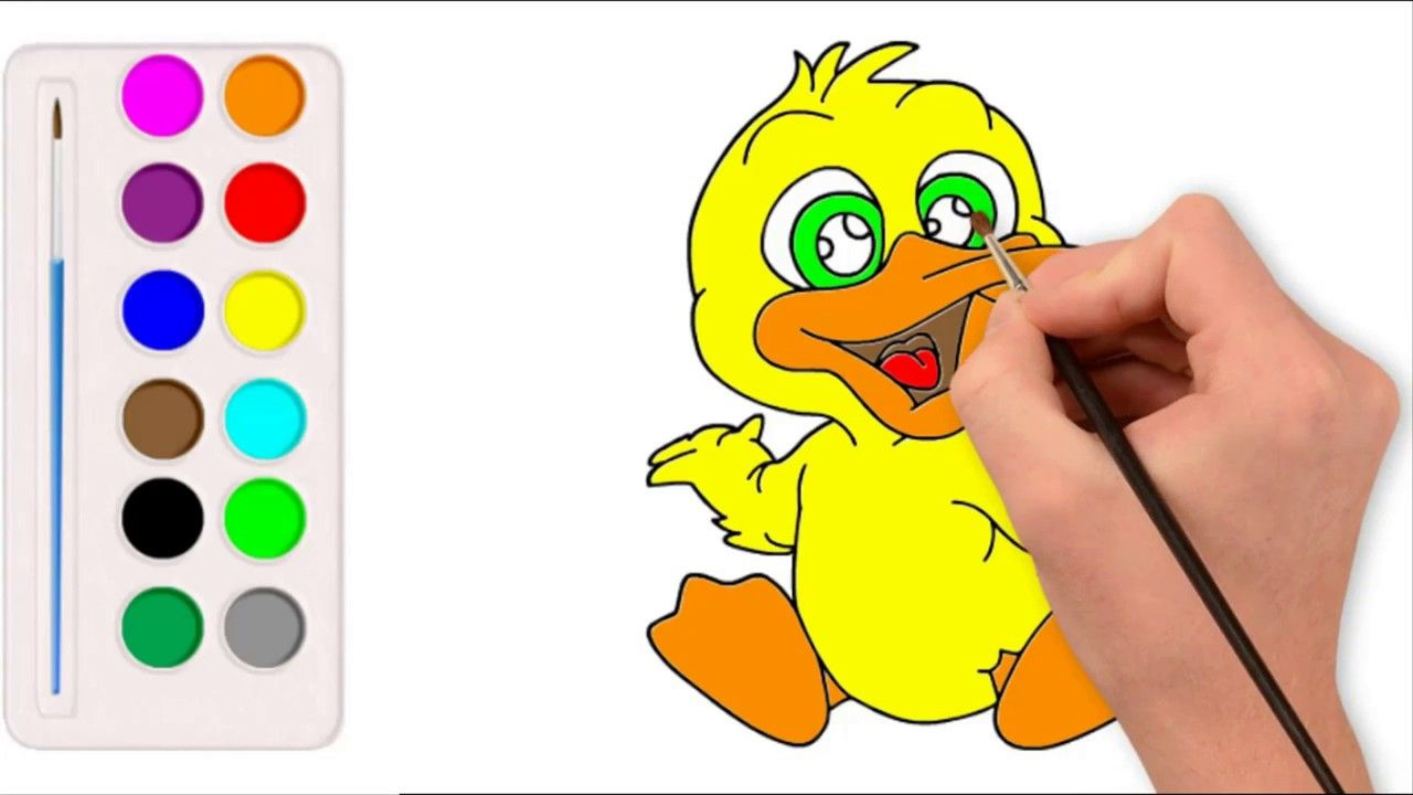 تعليم الرسم للاطفال كيفية رسم بطة لطيف