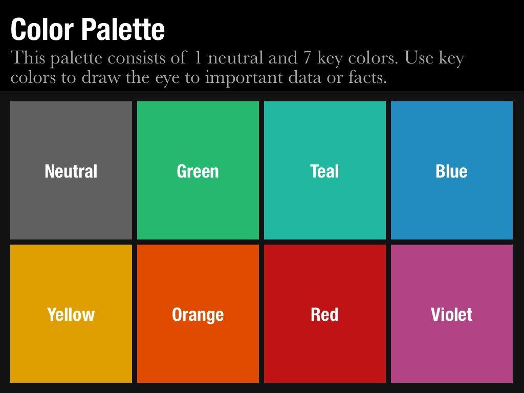 business presentation color schemes