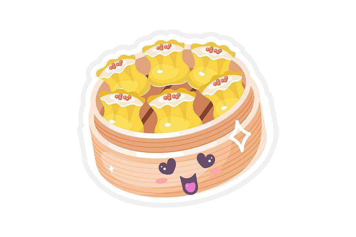 Cute Chinese Dim Sum Dim Sum Food Cartoon Siomai