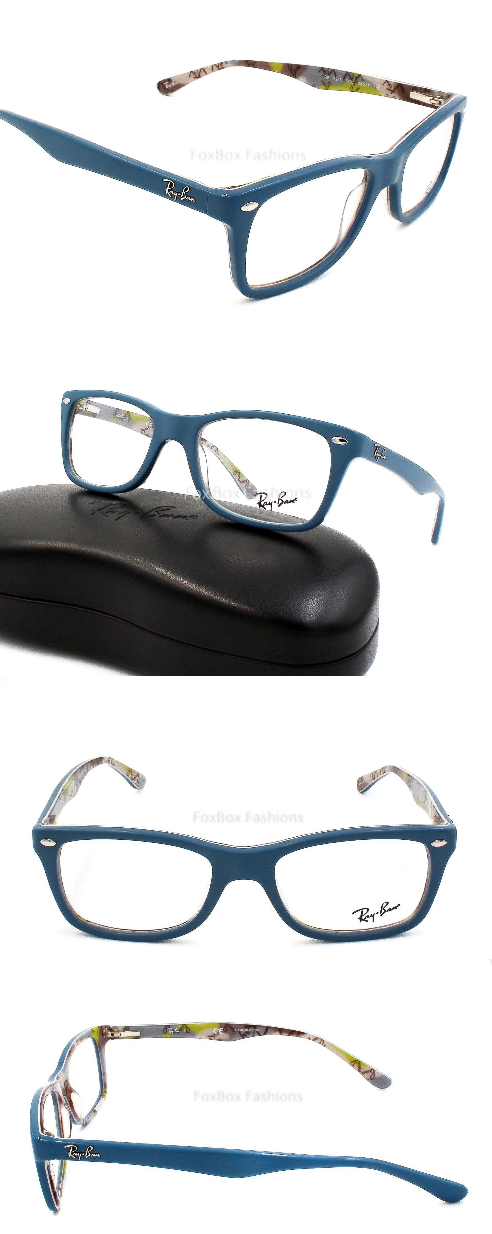 6900280c062 Eyeglass Frames  Ray-Ban Rb 5228 5407 Eyeglasses Optical Frames Glasses  Blue Multi 50Mm -  BUY IT NOW ONLY   68.95 on eBay!