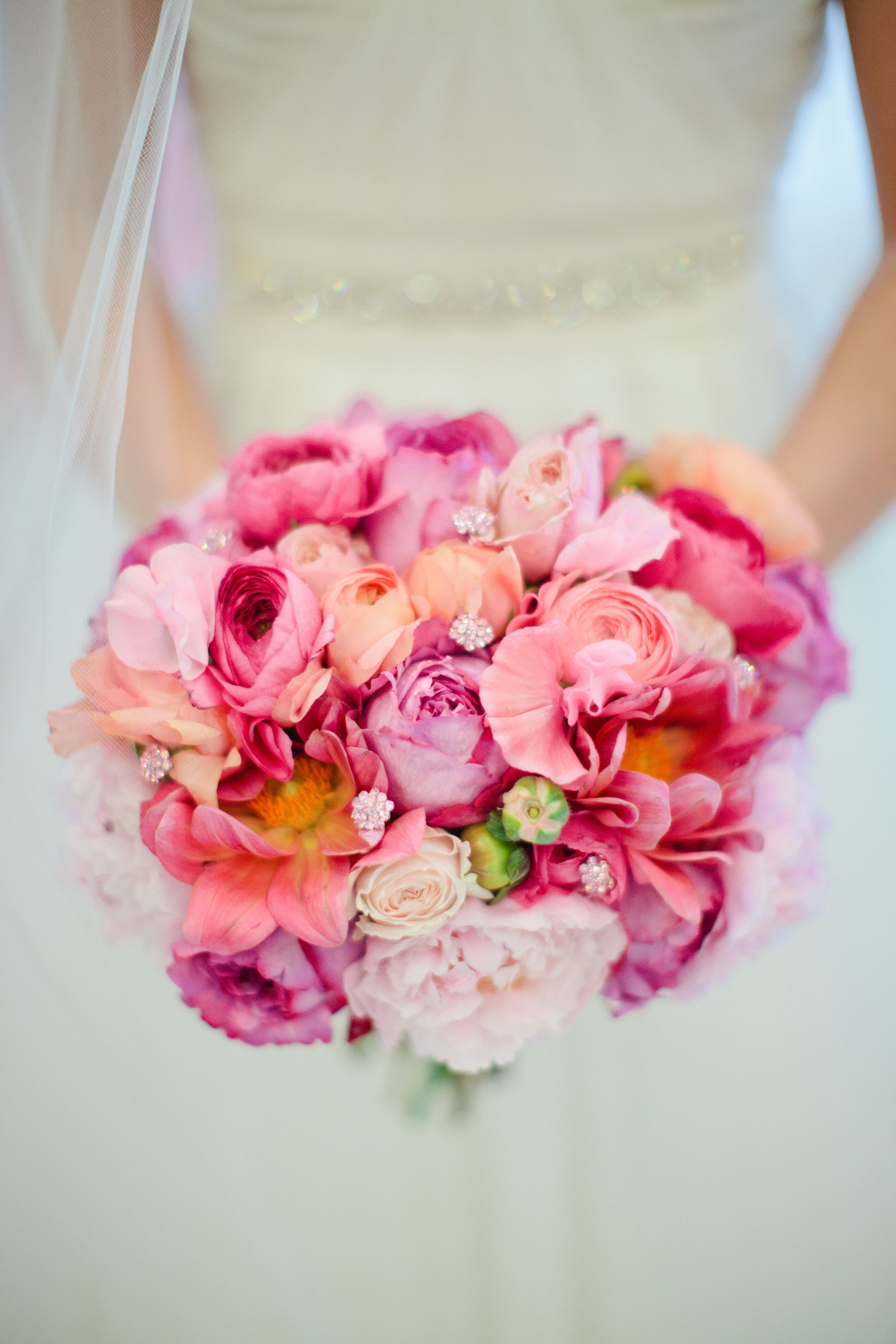 Pink & Coral, Green, And Purples Color Scheme