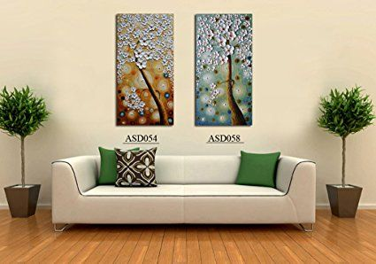 Amazon Com Asdam Art 3d Oil Paintings 100 Hand Painted Pictures Of Trees Home Canvas Wall Modern Art Abstract Modern Art Paintings Abstract Animal Wall Art Amazon paintings for living room