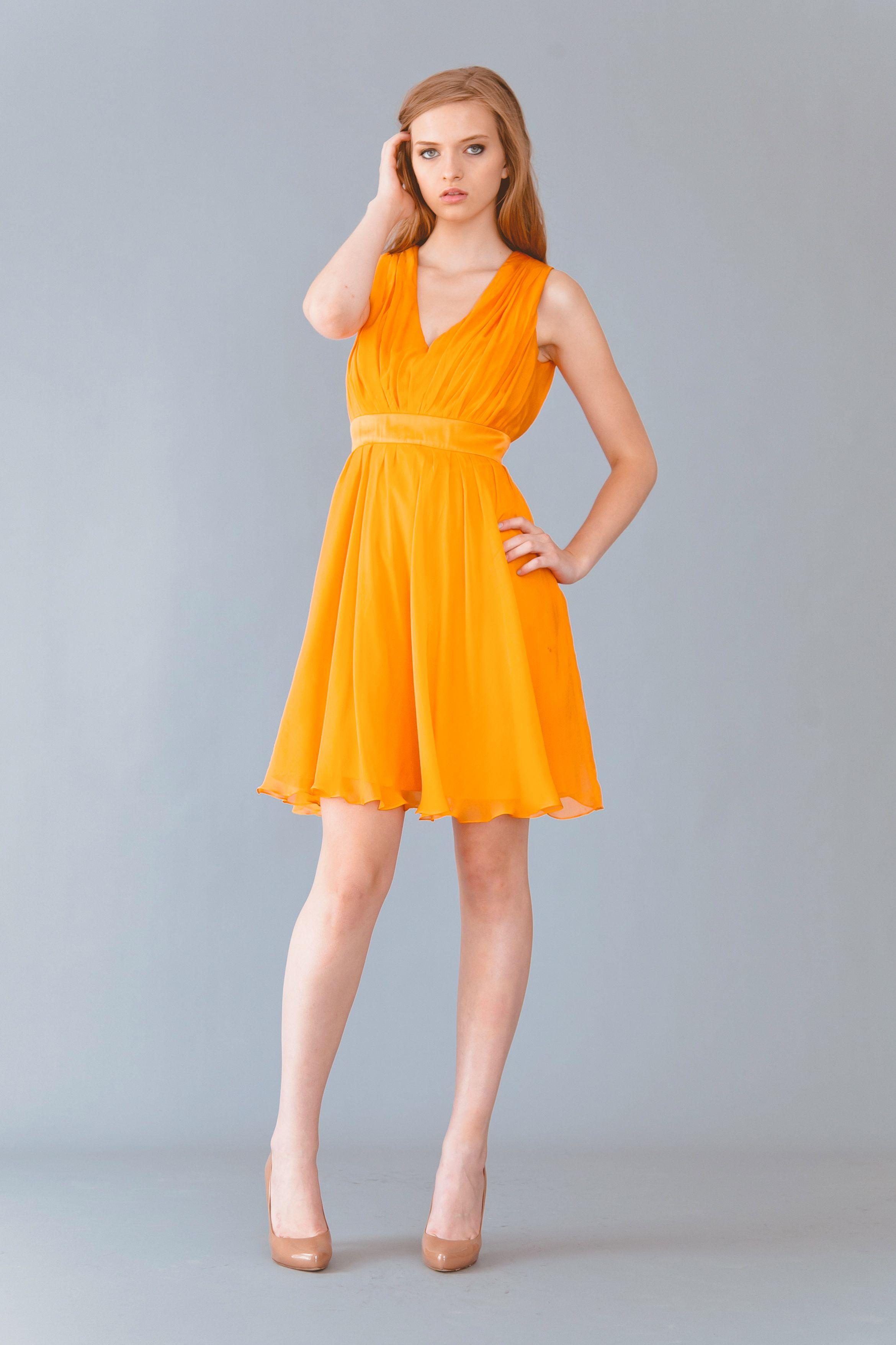 cute orange summer dresses