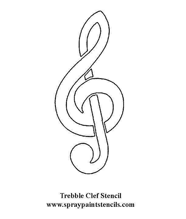 Music Note With Images Stencils Free Stencils Music Notes