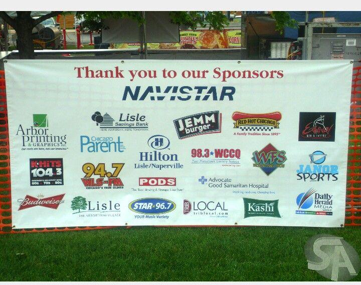 Multi Sponsor Banner Football Tournament Baseball