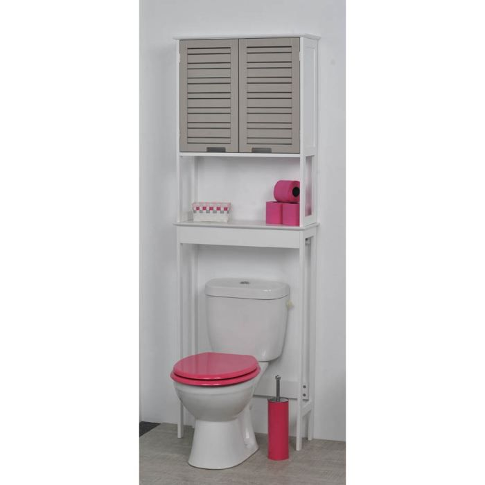 un meuble dessus wc avec une touche exotique pour vos toilettes id al pour ranger vos affaires. Black Bedroom Furniture Sets. Home Design Ideas