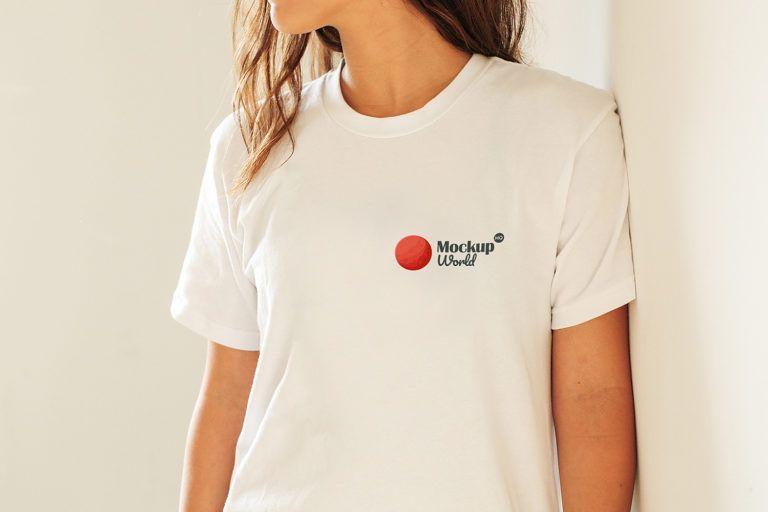 Download Girl T Shirt Mockup Free