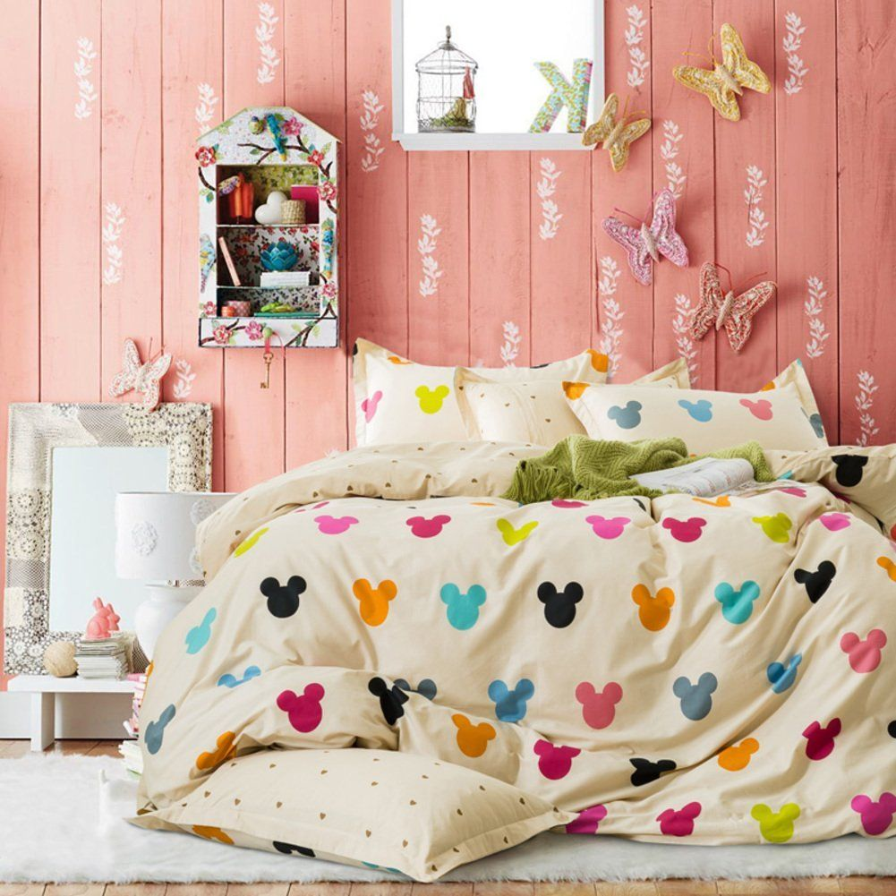 Disney Discovery Colorful Mickey Silhouette Bedding Set Disney