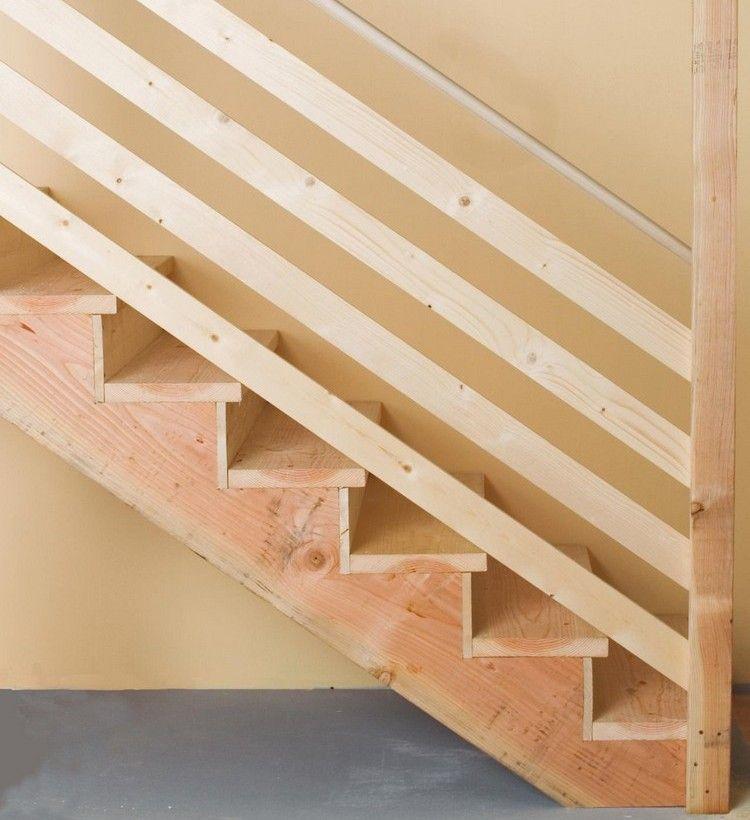 Holztreppe selber bauen - Einfache Anleitung und Tipps - fabriquer escalier exterieur bois