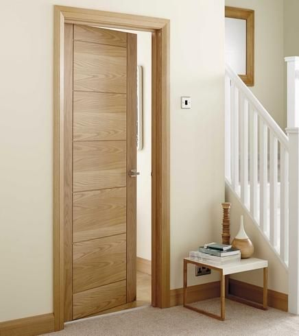 Linear Oak Door Design Interior Doors Interior Modern Oak Interior Doors