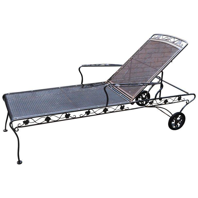 Woodard Wrought Iron Chaise Lounge Michigan Us 1950 Outdoor