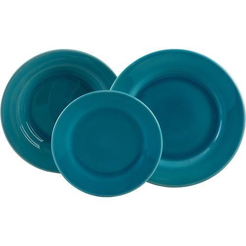 Conjunto de Pratos Cerâmica  18 Peças Verde Aruba - La Cuisine