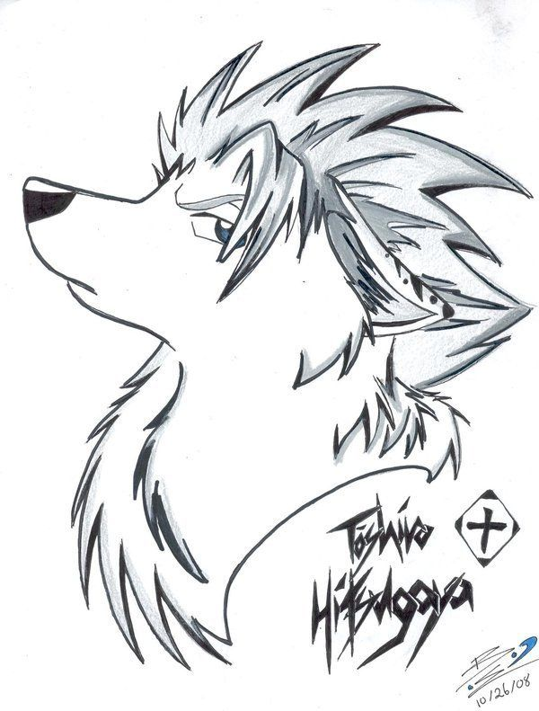 How To Draw Anime Wolves Anime Wolves Step 3 Animal Drawings Anime Wolf Anime Drawings