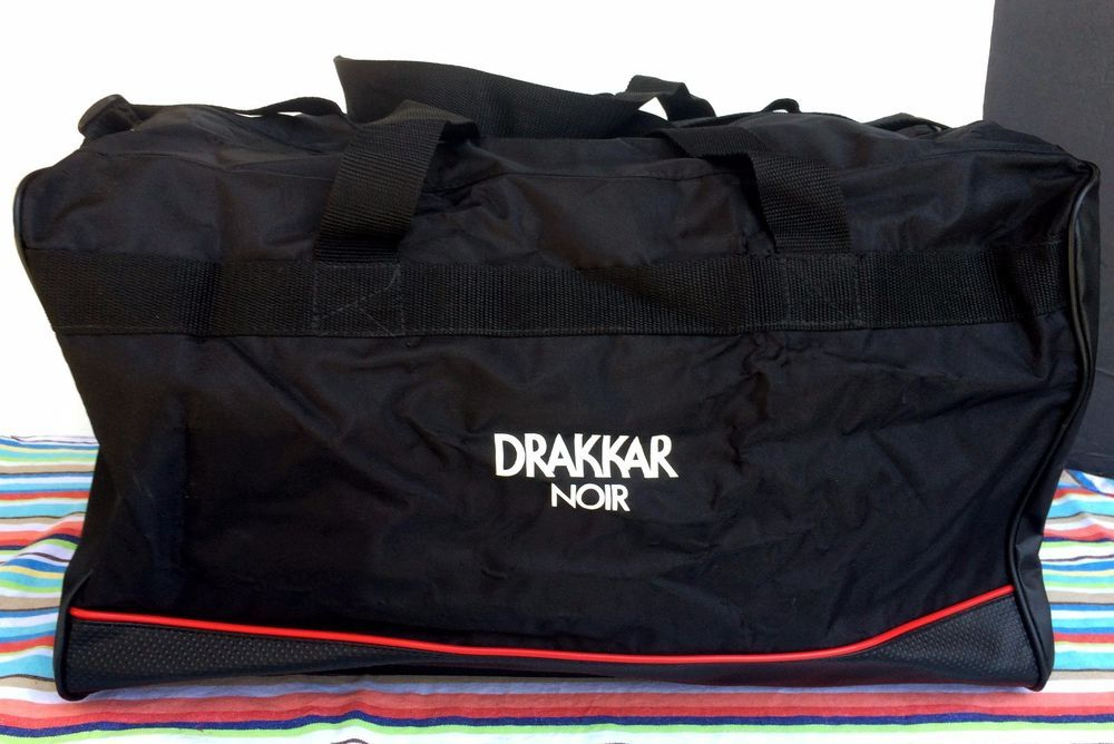 Drakkar Noir Black Duffle Bag Gym Travel Adjustable Shoulder Strap 20x11  Duffel… cb7f770807d34