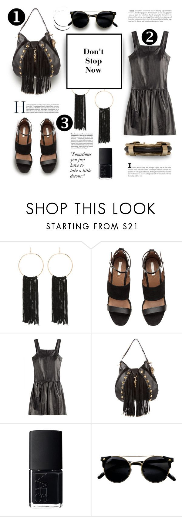 """black"" by vigilexi ❤ liked on Polyvore featuring Bebe, Karl Lagerfeld, Gucci, NARS Cosmetics and Isabel Marant"