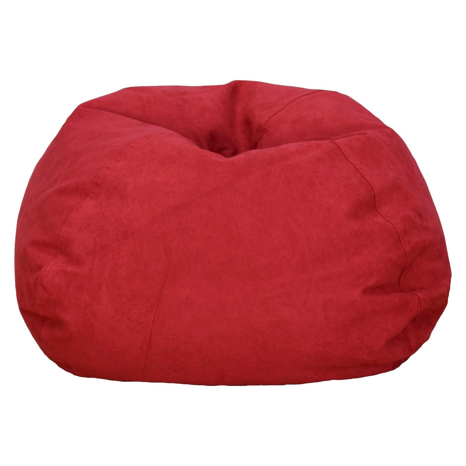 This Large Micro Suede Beanbag Chair Is The Ulitmate Casual Cool