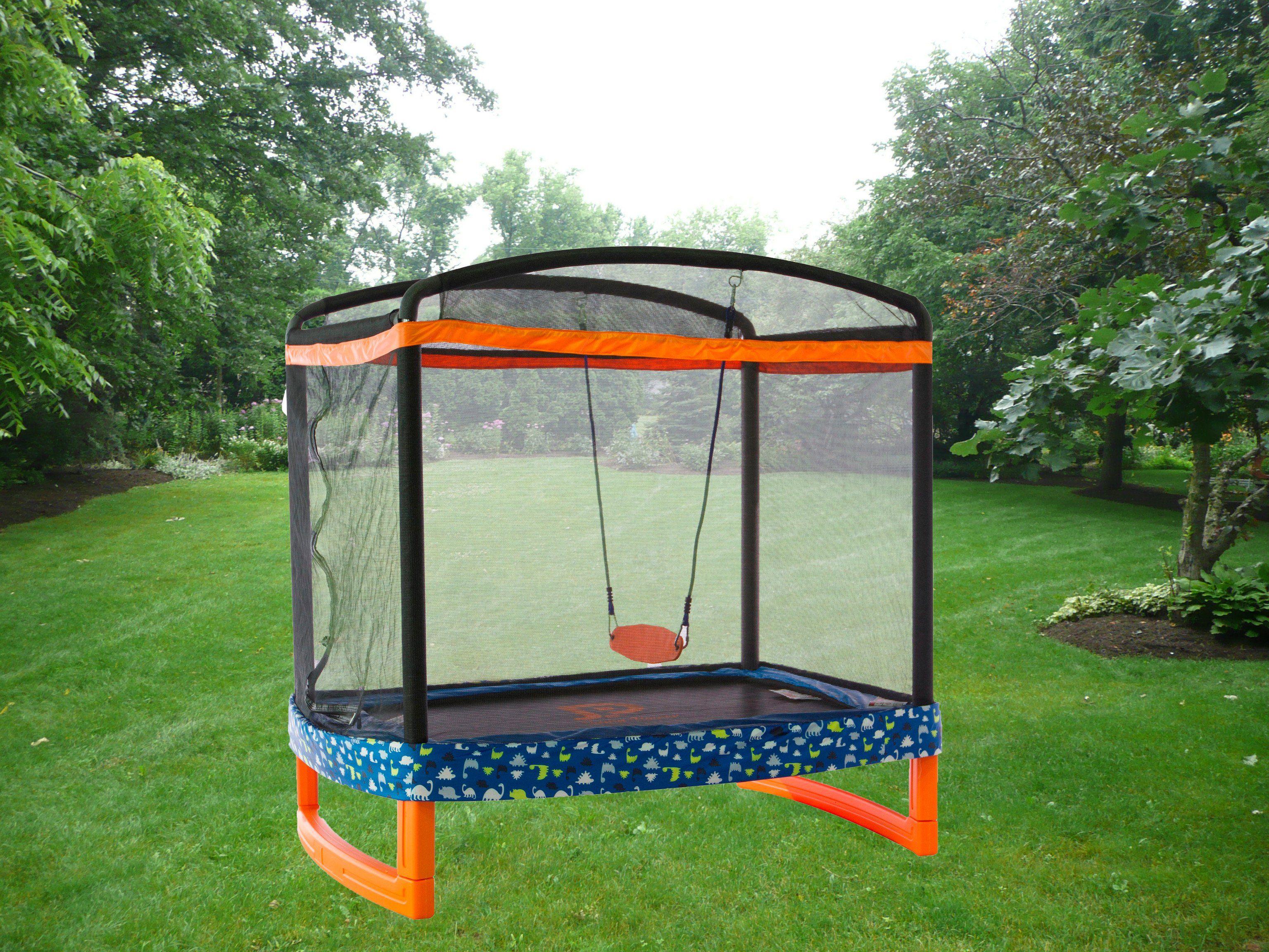 72 x 50 indooroutdoor trampoline combo with swing astm
