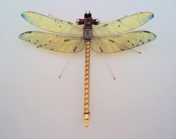 As esculturas de insetos feitos de peças de computador recicladas de Julie Alice Chappell