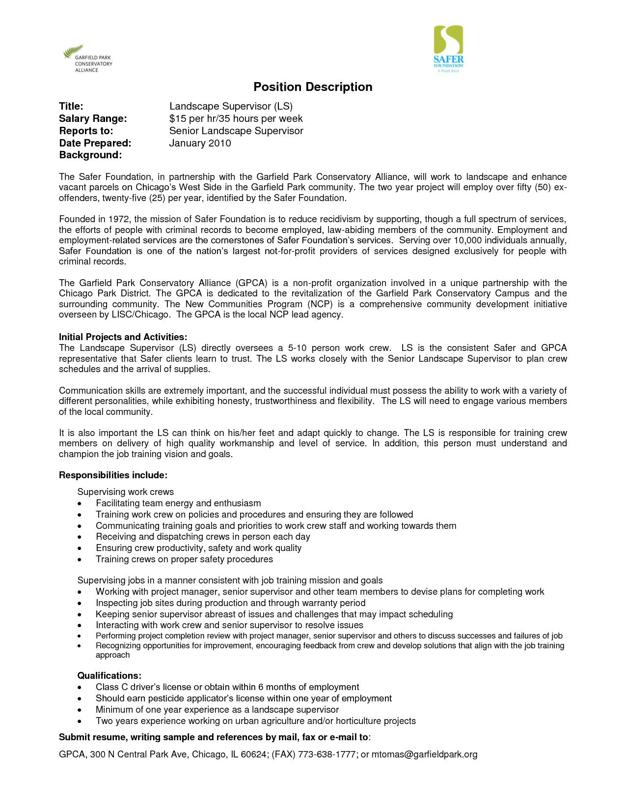 warehouse worker job description resume