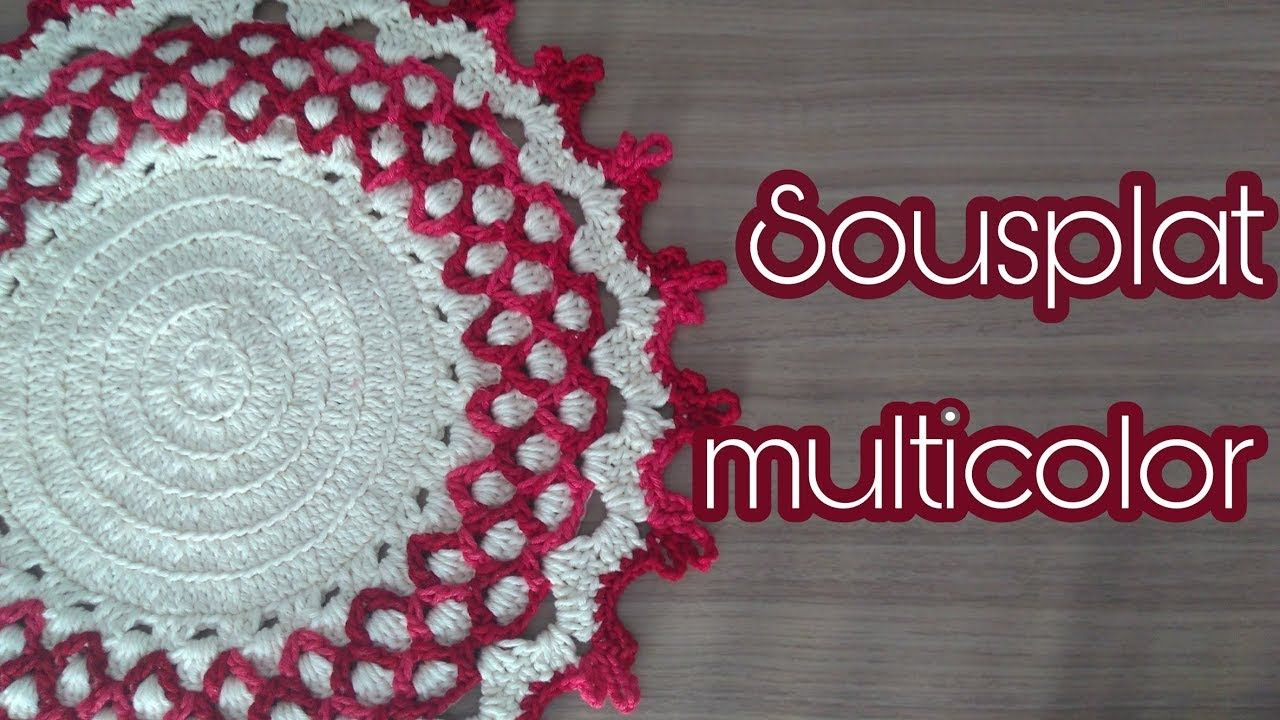 Sousplat Multicolor Idee Crochet Youtube Pinterest Crochet