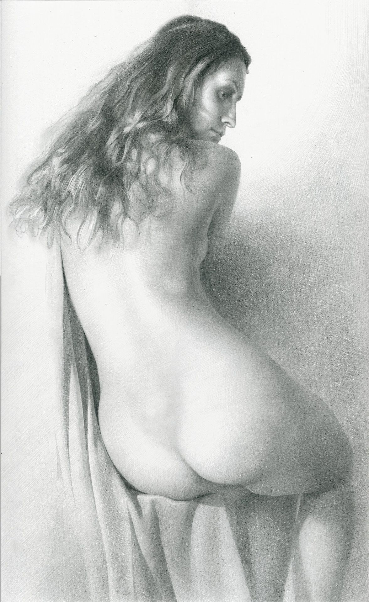 Pencil drawing of a women naked — img 11