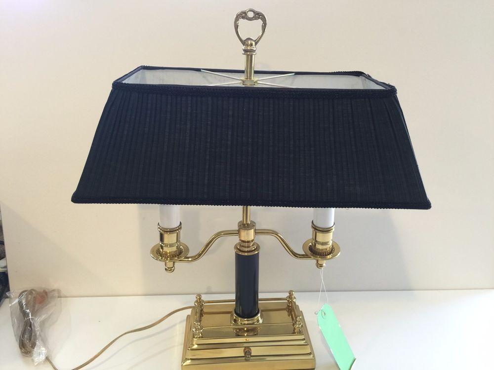 The Barn Furniture Mart Brass 2 Lights Desk Lamp, Never Used, 21 1/