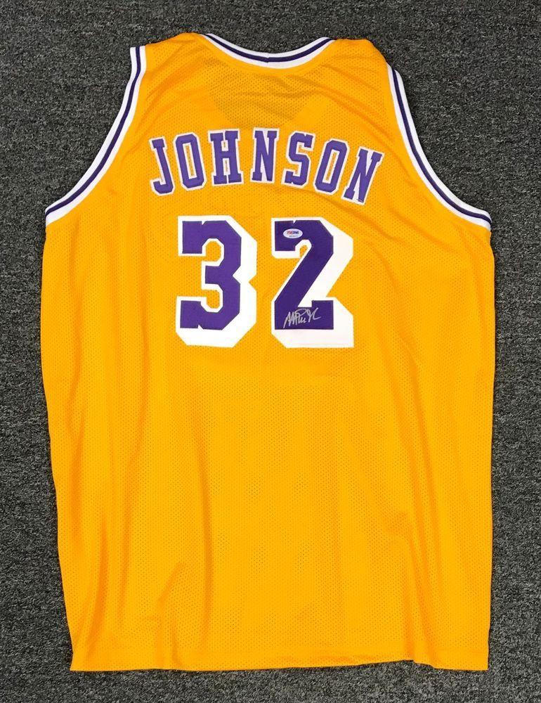 ee289495ebf Magic Johnson  32 Signed Los Angeles Lakers Jersey AUTO Sz XL PSA DNA COA  HOF  Basketball