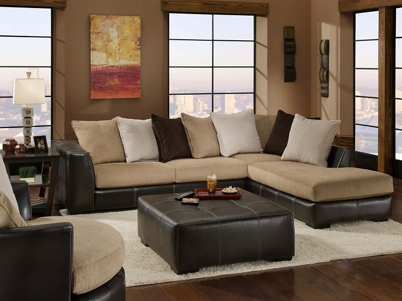San Marino Mocha Contemporary Sectional Rana Furniture