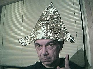 Image result for person in tinfoil hat