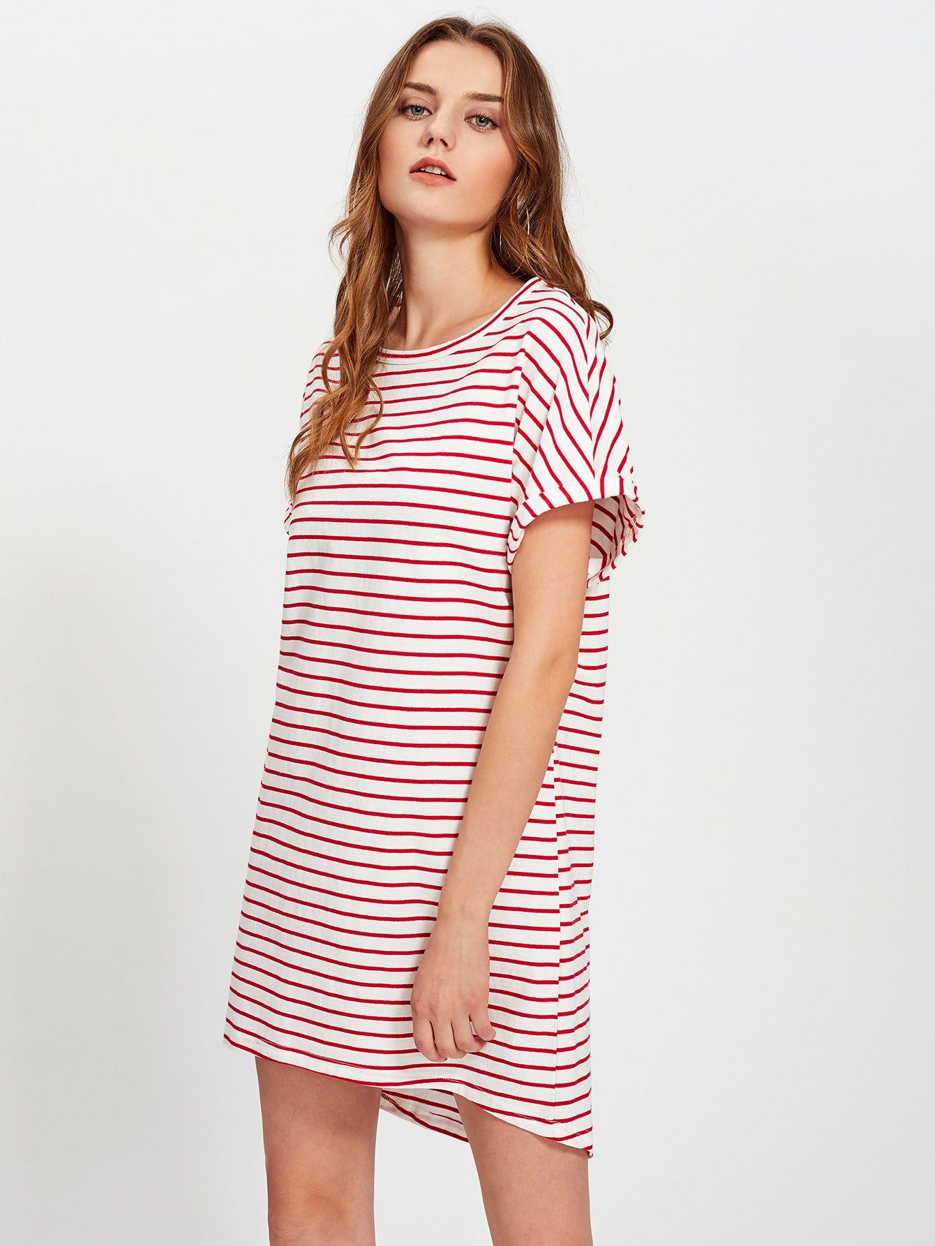 Roll Cuff Hi Lo Tee Dress | Pinterest | Tipos de vestidos, Vestidos ...