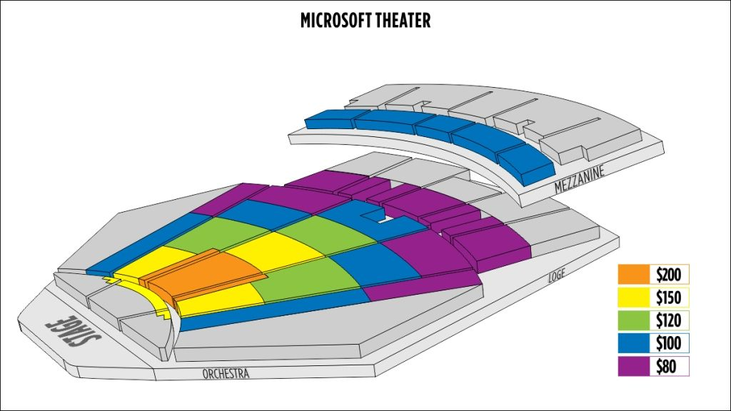 Microsoft Theater Seating Chart Seating Charts Theater Seating Chart
