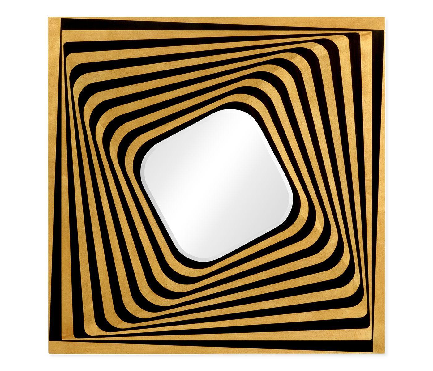 Psychedelic Op Art Mirror #JCmodern #jonathancharles  #jonathan_charles_russia #jonathancharlesrussia #jonathancharlesfurniture