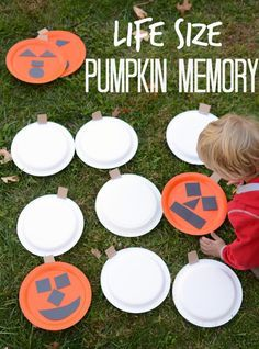 get moving with this super sized memory game making this for our halloween party