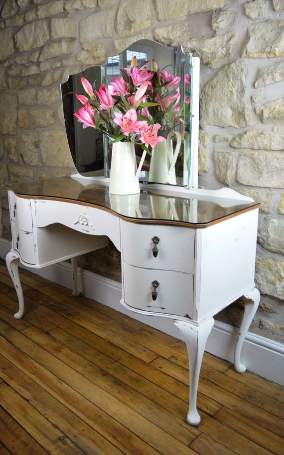 This Very Elegant Restored Queen Anne Style Dressing Table