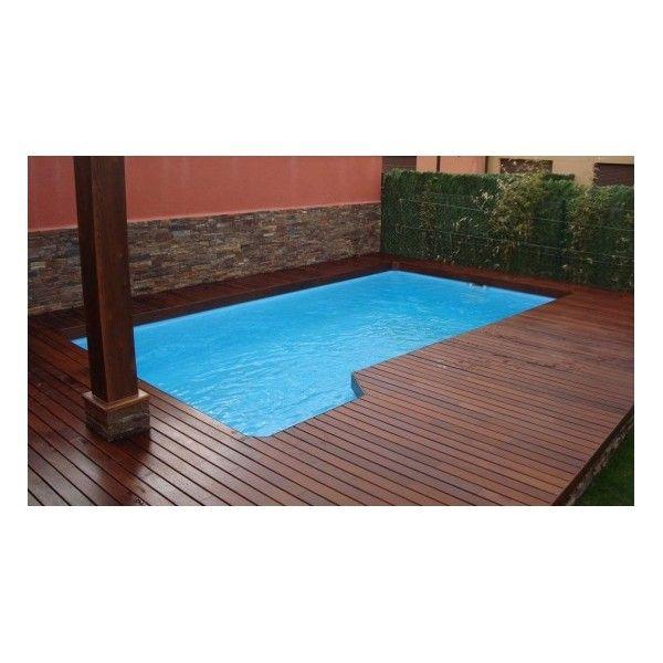 Piscina de fibra de vidrio con escalera de 3 pelda os - Presupuestos para piscinas ...