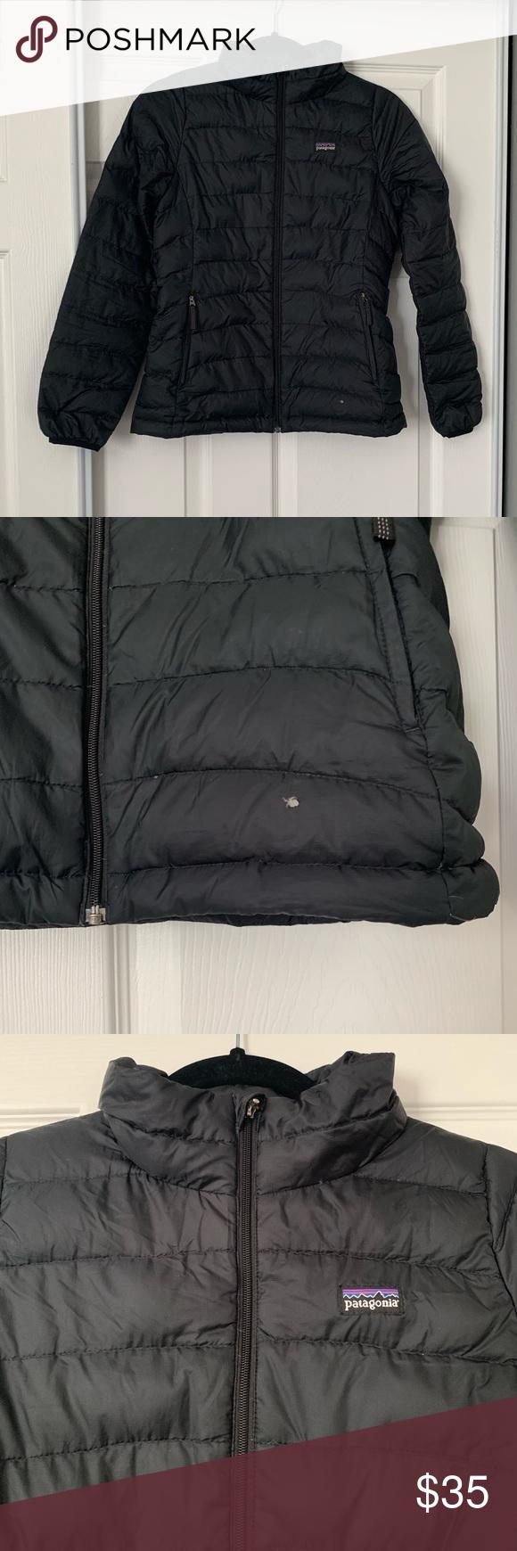 Patagonia Girl S Black Puffer Jacket Goose Down Black Puffer Jacket Girls Black Puffer Jacket Jackets [ 1740 x 580 Pixel ]