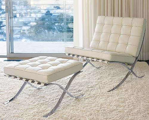 THE BARCELONA CHAIR WHITE